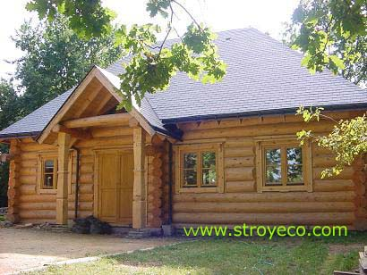 Parish wooden house of Russian Orthodox Church in France. Photo 4